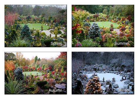 The Garden Four Seasons by Four Seasons Garden Summer Autumn Winter Flickr