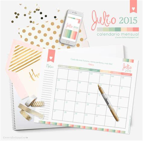 Calendario De Este Mes Descarga Gratis El Calendario Mensual De Julio Y