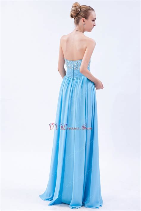 aqua color dress strapless sweetheart floor length aqua evening dress