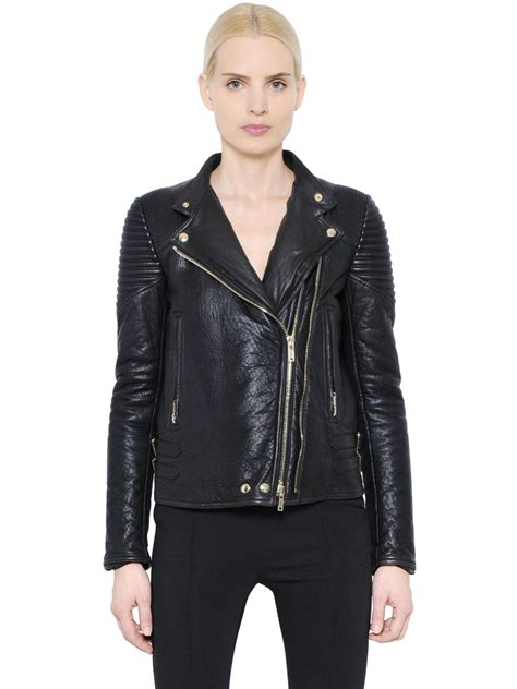 givenchy leather jacket givenchy nappa leather moto jacket in black lyst