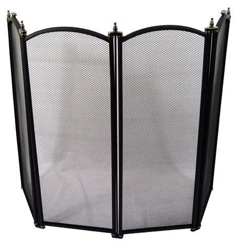 screen black fireside fireplace safety guard folding