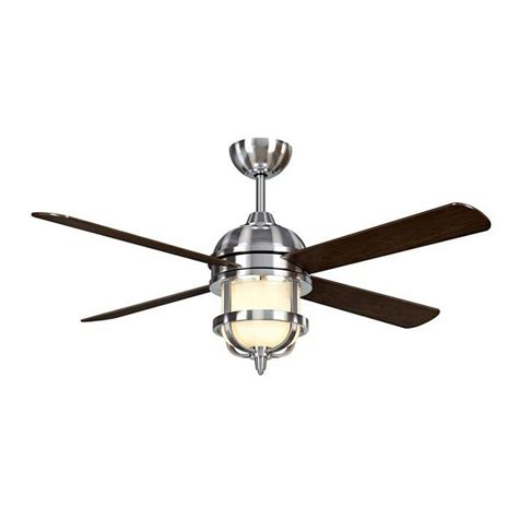 Ceiling Fan Brushed Nickel With Light Hton Bay Senze 52 In Indoor Brushed Nickel Ceiling Fan With Light Kit And Remote