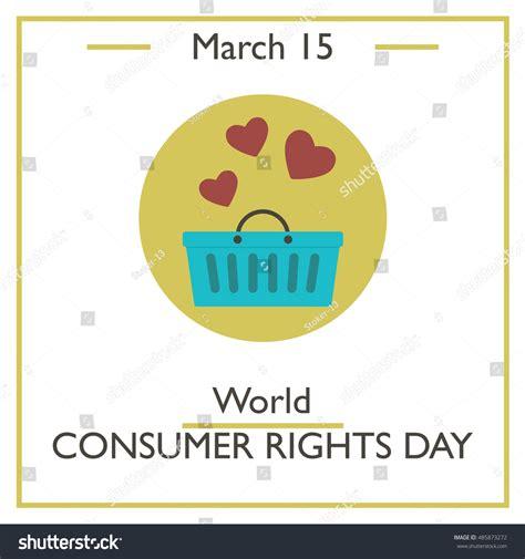consumer pattern en francais world consumer rights day march 15 stock vector 485873272