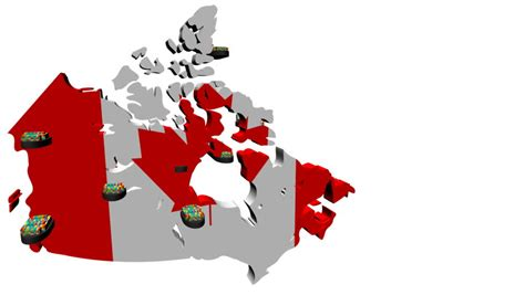 map of canada hd canada map flag with container ships departing animation