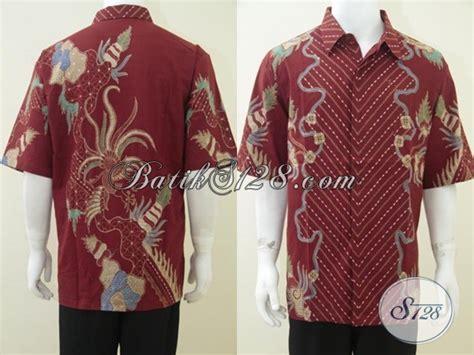 Baju Wanita Ukuran Besar Modis baju batik ukuran besar warna merah modis elegan untuk