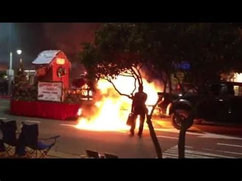 parade float catches fire  virginia beach oceanfront youtube