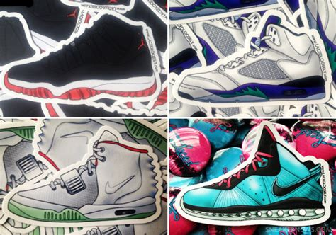 sneaker stickers sneaker inspired stickers by laced loosely sneakernews