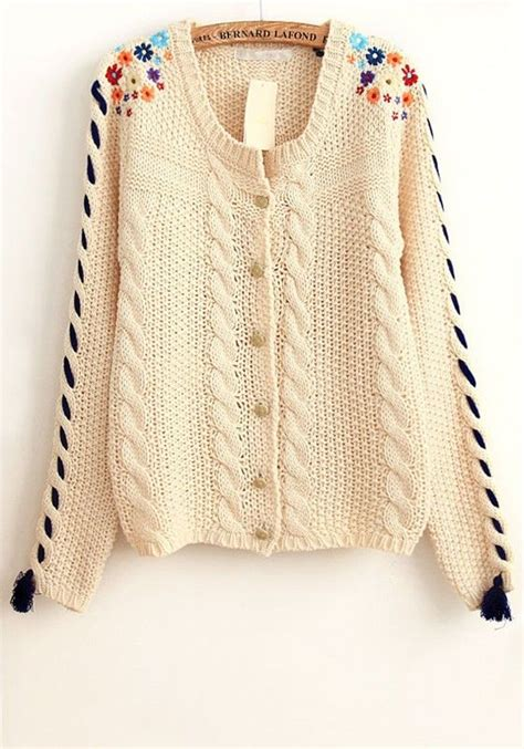 Embroidery Tassel Cardigan N0905 18 best images about apliques on tassels floral cardigan and embroidery