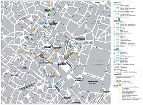map of brussels brussels city center map