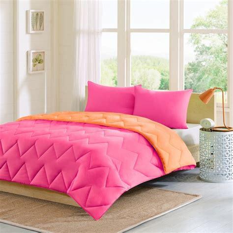 home design mini stripe down alternative queen comforter intelligent design trixie reversible down alternative pink