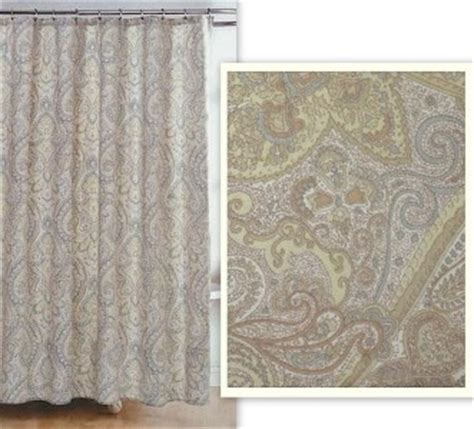 ralph lauren shower curtains ralph lauren paisley scroll floral muted blue tans fabric