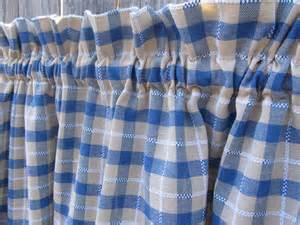 Blue Plaid Kitchen Curtains Unavailable Listing On Etsy
