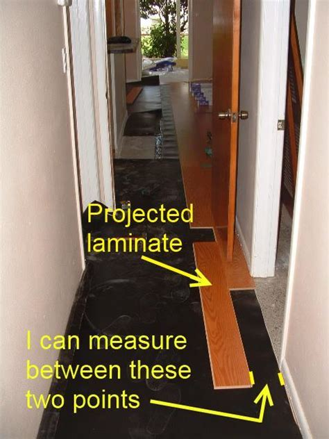 Installing Laminate Down Hallways From Another Room