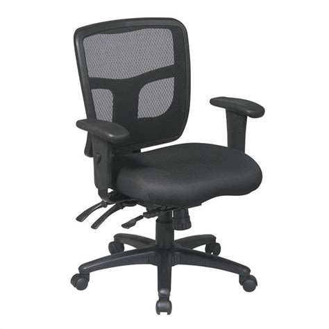 office chair with adjustable arms back mid back managers office chair with adjustable arms