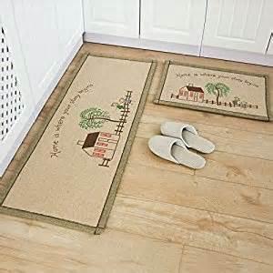 ustide 2 washable bathroom rug sets kitchen rug set