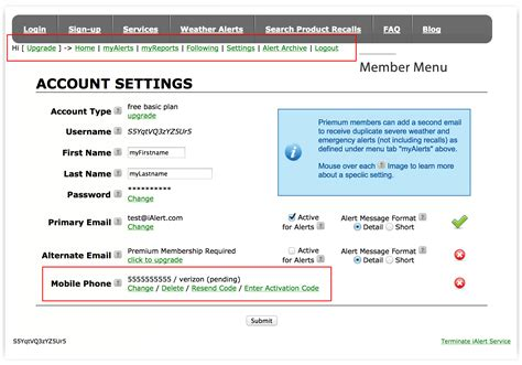 mobile phone options how to enter mobile phone activation code weather and