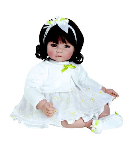 Babydoll Gt1807be Dk adora dolls baby doll 20 quot white daisies quot dk brown hair brown