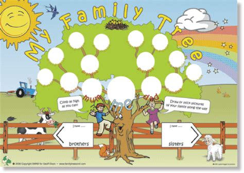 family tree scroll childrens activity poster