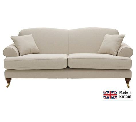 settees argos buy heart of house sherbourne large fabric sofa natural