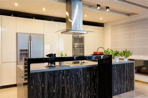 Cooking Islands For Kitchens High Gloss And Matte Lacquered Kitchen Cabinet Doors Gallery