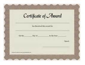 free printable award certificate template free printable blank award certificate templates chainimage