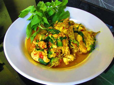 resep   membuat ayam kemangi bumbu kuning chop