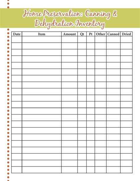 food inventory spreadsheet related keywords food