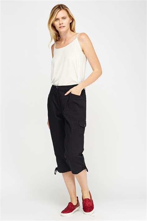 Cotton Cropped Trousers cotton blend cropped trousers just 163 5