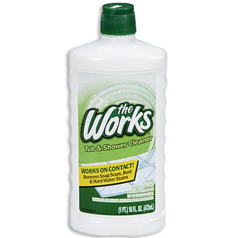 works bathroom cleaner the works 174 tub shower cleaner big lots