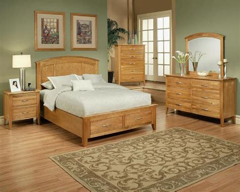 bedroom set in light oak finish firefly county by ayca ay