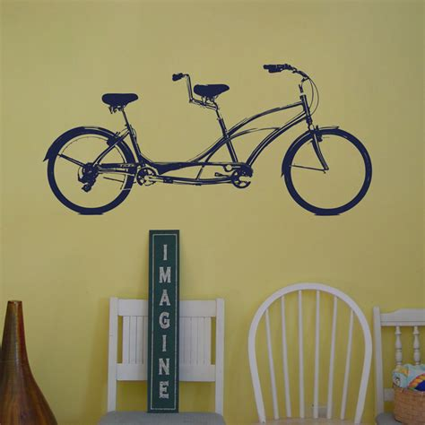 Wall Sticker Bicycle tandem bike bicycle built for two wall decals