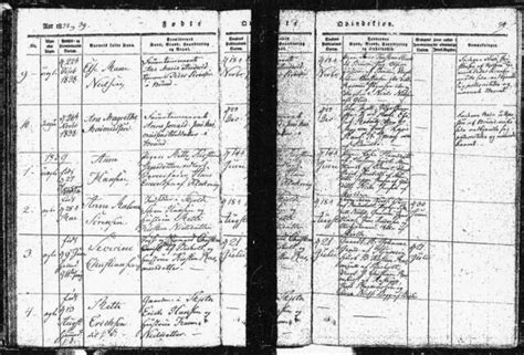 Hamburg Birth Records Documents