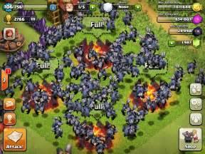 Clash of clans 135 level 5 minion attack epic win youtube