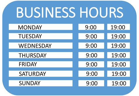 Free Operating Hours Sign Templates At Allbusinesstemplates Com Business Sign Templates