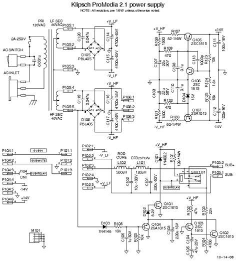 klipsch promedia 2 1 wiring diagram need advice on replacing ceramic capacitors in klipsch
