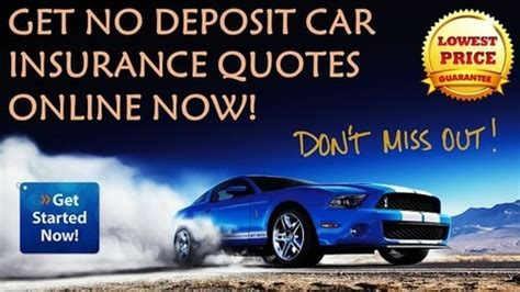 Cheap Car Insurance 1 Day by Secure No Deposit Car Insurance Quotes With Aff