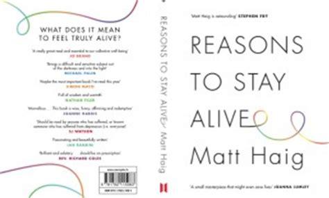 libro reasons to stay alive the site of novelist matt haig