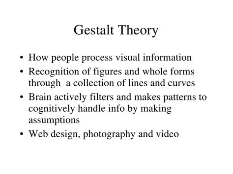 gestalt theory pattern recognition photo composition and communication