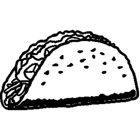 doodle style mexican food taco sketch in vector stock