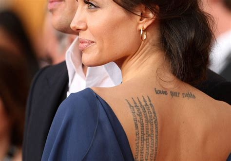 angelina jolie geographical tattoo sacred fearless angelina jolie tattoo designs meanings
