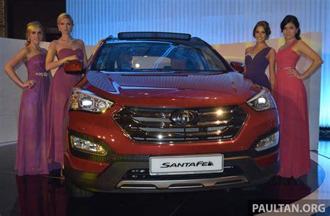 santa fe hyundai malaysia hyundai santa fe launched in malaysia 2 4 petrol and 2 2