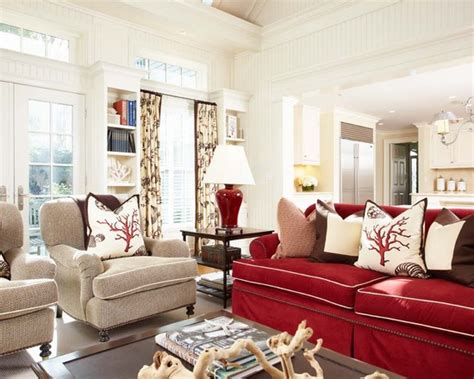red sofa living room decor red couch home design ideas pictures remodel and decor