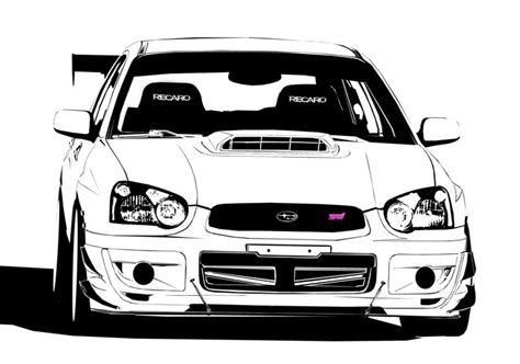 subaru car back ruge s subaru sti black and white cars
