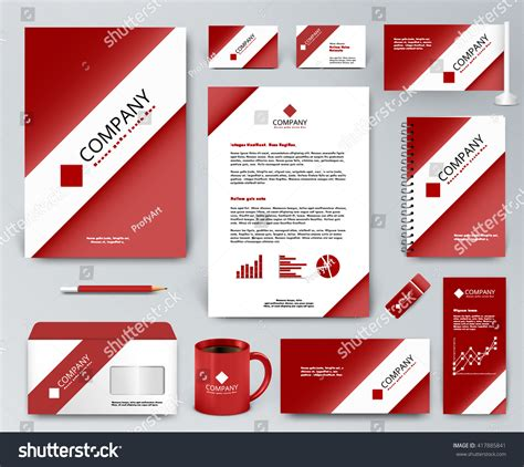 branding kit template professional universal branding design kit white stock