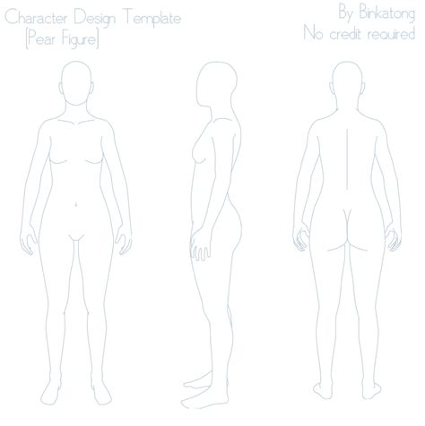 Character Design Template Pear Figure By Binkatong On Deviantart Character Design Template