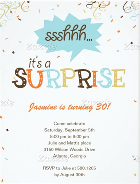 templates for surprise birthday invitations 15 surprise birthday invitations free psd vector eps