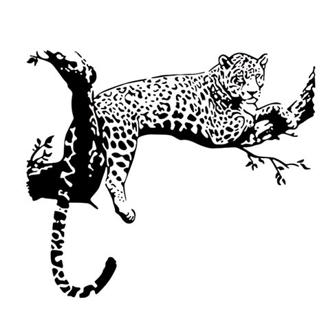 large animal wall stickers 2016 new fashion black large leopard animal wall sticker tiger wall decal mural home