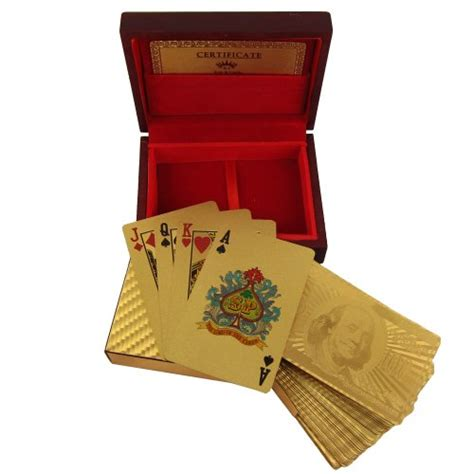 Unusual Gift Cards - vintage playing cards deck in 999 9 gold plating unique gift from india desertcart
