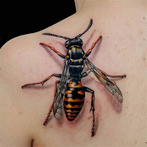 wasp tattoo 3d wasp