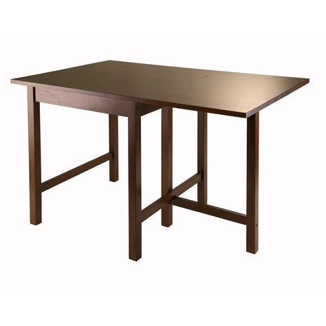 small card table amazon amazon com winsome lynden drop leaf dining table tables
